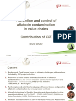 Prevention and control of aflatoxin contamination in value chains
