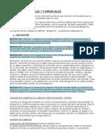 Resumen obligaciones civiles y comerciales