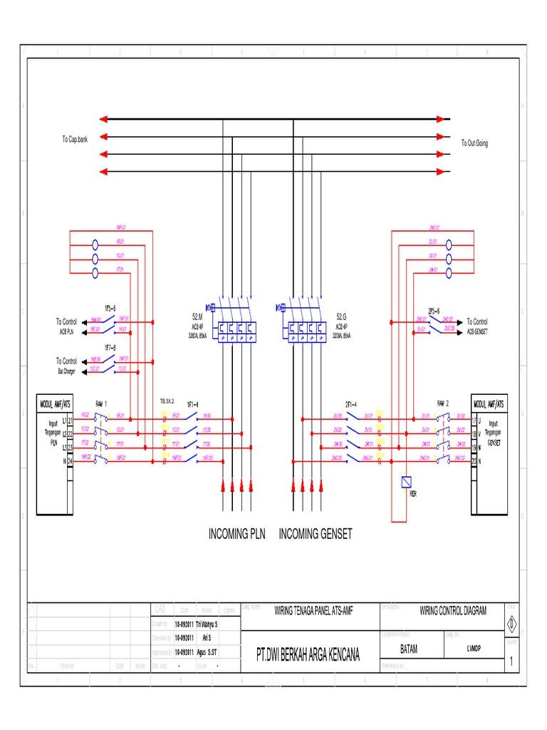 wiring diagram panel ats wiring data