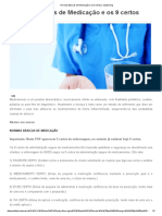 Normas Básicas de Medicação e Os 9 Certos _ Saúde Blog