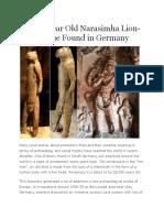 32,000 Year Old Narasimha Lion