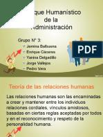 Enfoque Humanístico de la Admin. (2013)