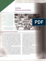 Gobiernos Peronistas - Santillana Saber Esclave