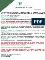 Torneo Profesional Club de Regatas Rosario 2011