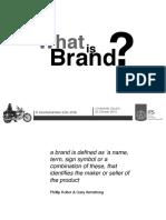 Definition Brand