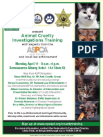 NYSAPFAnimalCruelty Investigations Training