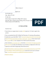 Cover Letter 1 Revised