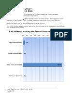 CNBC Fed Survey, Mar 15, 2016