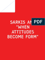 Sarkis and when attitudes become form