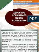 Aspectos Normativos Sobre Planeacion