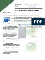 Insertar una marco de agua en un documento Word 2010