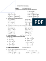 Guia Algebra 2 Productos Notables