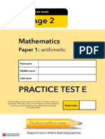 Ks2 Maths Test e