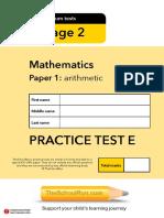 Ks2 Maths Test e