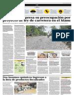 La Unesco expresa su preocupación por proyecto de ley de carretera en el Manu