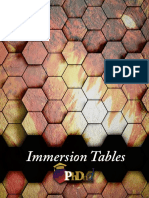 Immersion Tables