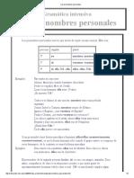 Copia de Los Pronombres Personales