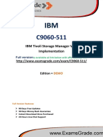 ExamsGrade C9060-511 Exam Training Material