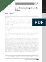 Los Riesgos en La Financiación Privada de Proyectos Públicos - Hector Marial