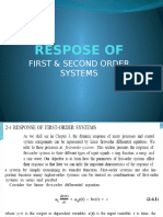 Respose of First and Second Order Systems