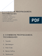 6 Methods of Propaganda Techniques