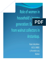Role of Women in Household's Income Generation