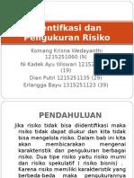 Identifkasi Dan Pengukuran Risiko