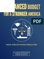 House Budget Committee FY 2017 Budget Proposal