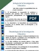 Deontología de la Investigación Educativa