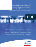 080514-ANESMS-Recommandation mise en oeuvre evaluation interne