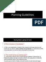 g321 Planning