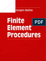 FEA - Finite Element Procedures by K J  Bathe