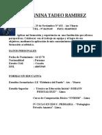 c. v. - Giannina Tadeo Ramirez