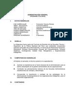 Silabo Desarrollado - Administracion General