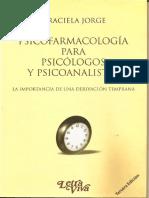 Psicofarmacología Para Psicólogos y Psicoanalistas - Graciela Jorge