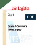 2015 - LOG Clase 1 - Cadena de Valor