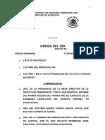 Orden del día 17 Marzo 2016