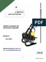 Hidrolavadora Gas Hlg-2250