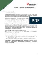 Raport Salvaţi Copiii - mortalitatea infantila si a copiilor in Romania update sept.2015