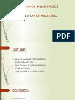 Erosion of Mild Steel