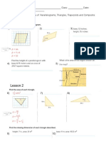 homework ch9 l1-3 and 6 area of parallelograms triangles trapezoids and composite figures