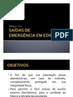 saidas de emergencia