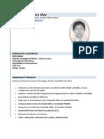 CV Eric Josue Herrera May