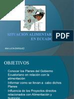 PP SITUACIÓN ALIMENTARIA EN ECUADOR