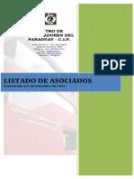 Cip Listado de Asociados Setiembre 2015