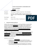 UC Berkeley Investigation Report - Yann Hufnagel