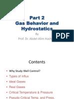 Part 2 Gas Behavior and Hydrostatics