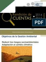 Rendicion de Cuentas marn el salvador 2014-2015