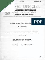 Debat à l'Assemblée sur le suppression de l'autorisation administrative de licenciement 1/2