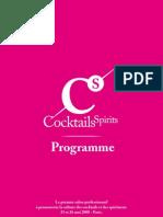 Programme Cocktails Spirits
